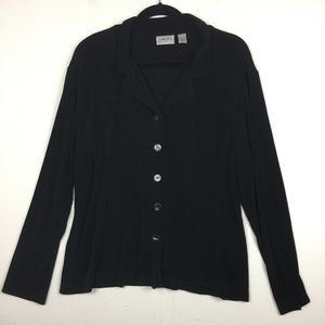 Chico's Travelers Button Front Top